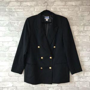 Vintage Pendleton 100% wool gold button blazer